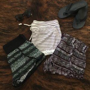 Bundle of 3 Boho Beachy Shorts